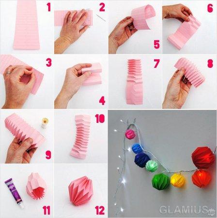 Как сделать новогодние игрушки своими руками из бумаги на елку