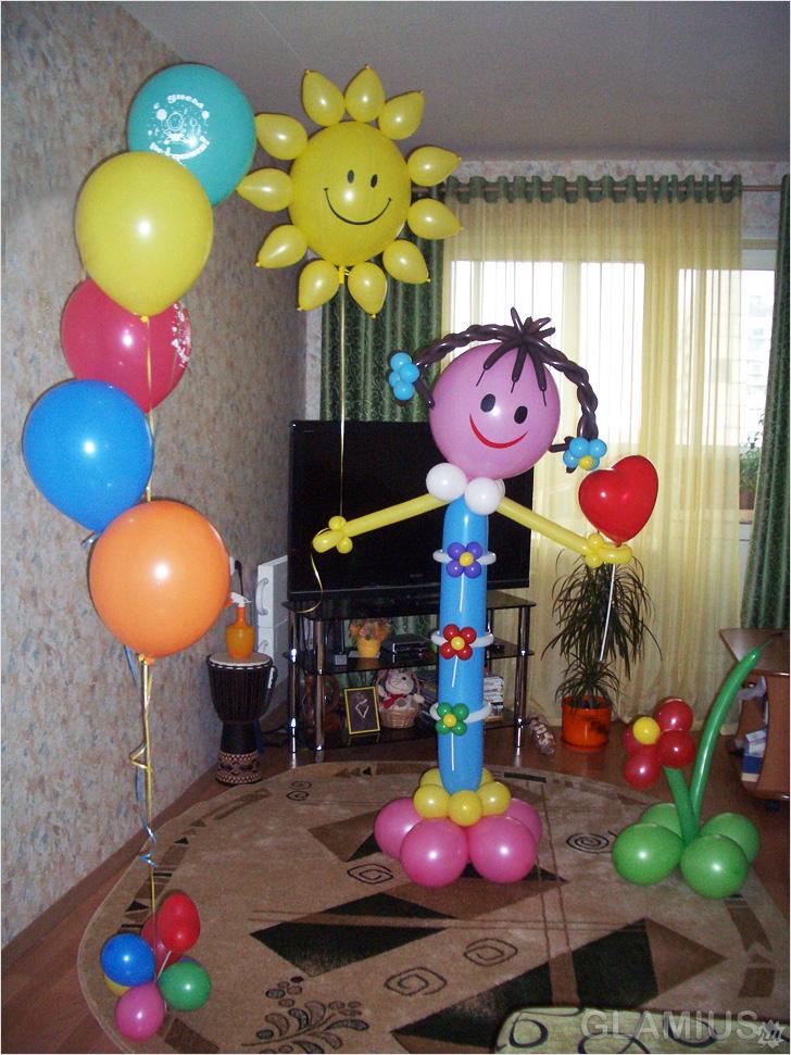 Украшение из шаров на день рождения ребенка своими руками 84