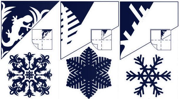 Схемы снежинки из бумаги своими руками схемы шаблоны 91