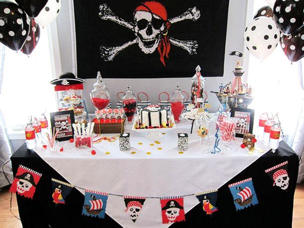 Оформление пиратской вечеринки для детей своими руками 75
