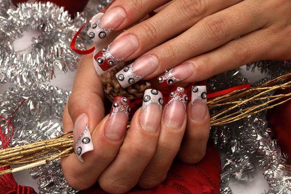 Дизайн нарощенных ногтей на новый год